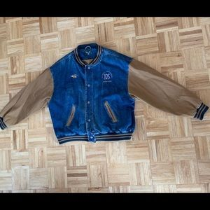Jean Varsity Jacket